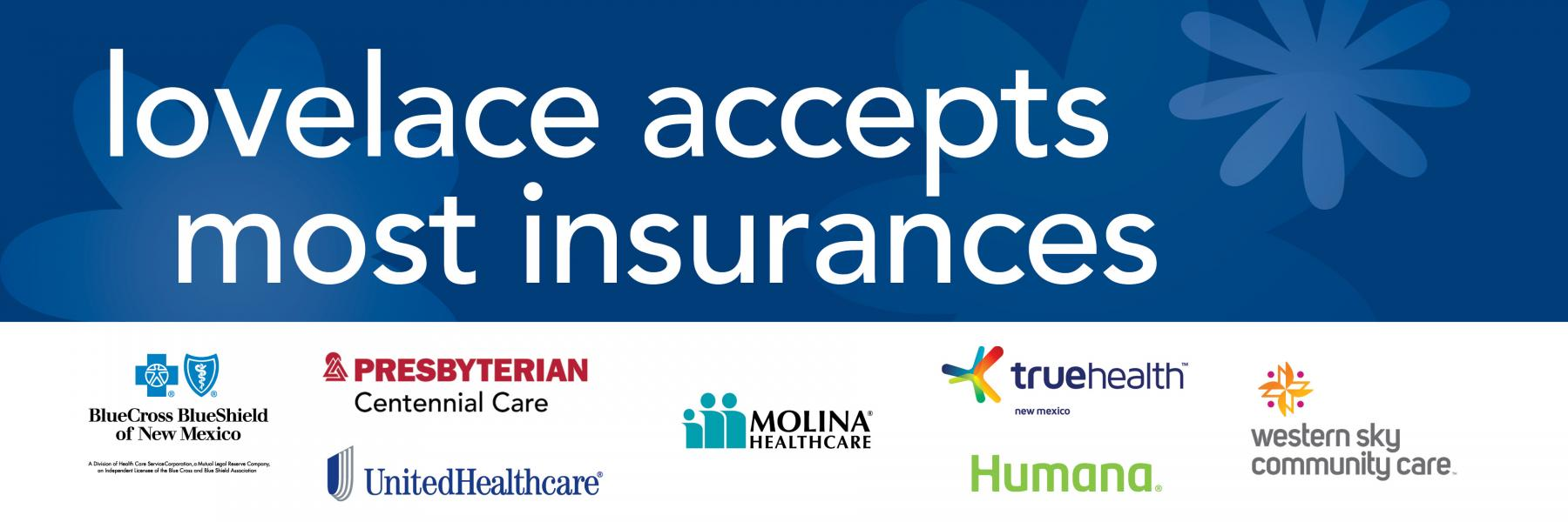 Lovelace Accepts Most Insurances